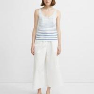 Theory NWT Silk Scoop Neck Striped Tank Top S